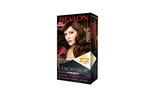 Revlon Colorsilk Buttercream Hair Dye, Medium Golden Mahogany Brown, 1 ()