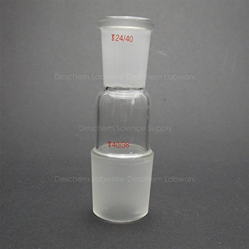 Deschem Glass Reducing Adapter From 40/38 to 24/40,Lab Glassware