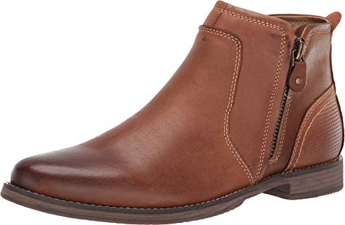 (Steve Madden Men's Palma Chelsea Boot, Dark Tan, 9 M US)