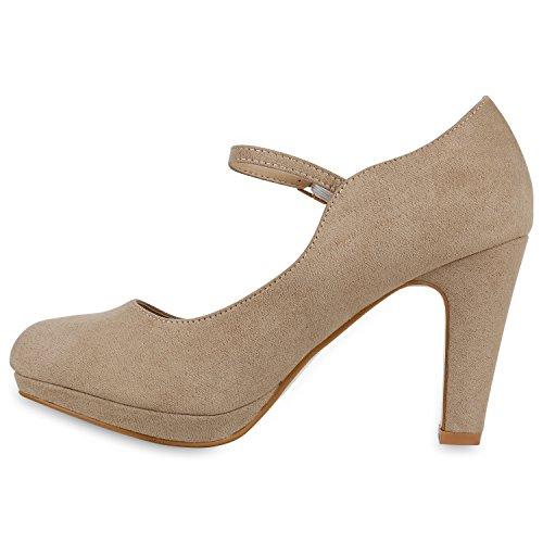 Scarpe Donna Stiefelparadies Beige Stiefelparadies Scarpe Chiuse U7HBqB