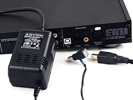 AQVOX USB Low-Noise Linear Power Supply Type-B Male to
