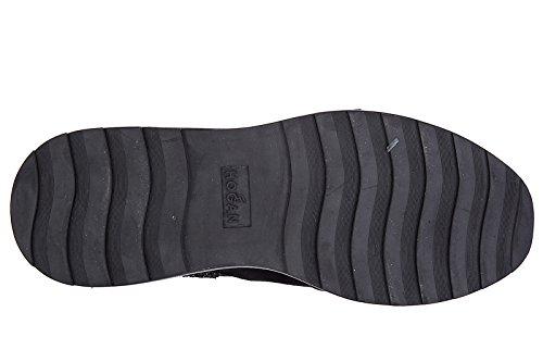 Hogan Rebel stivaletti stivali donna in camoscio r296 nero