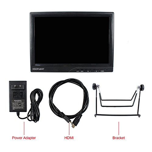 10.1inch LCD Monitor 1920x1200 Resolution Full View Angle HDMI VGA Input Source For Raspberry Pi Monitor Game Monitor by KSOPUERT (Image #6)