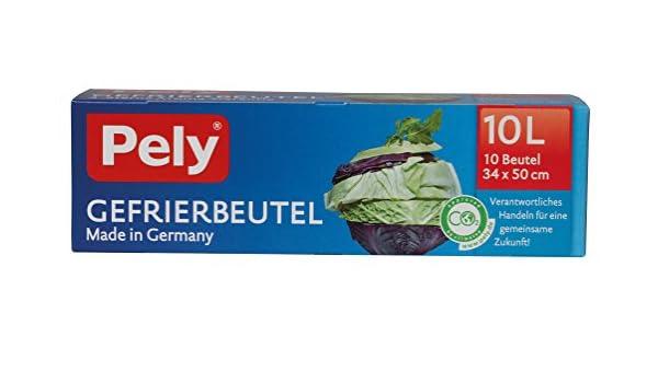 pely 8670 - Bolsa para congelados, 10 L, 10 unidades: Amazon ...