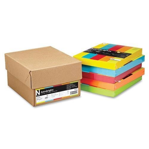 Wausau Paper Astrobrights Colored Copy Paper - For Laser, Inkjet Print - Letter - 8.50 X 11 - 24.00 Lb - 1250 / Carton - Assorted - Rohs Compliance by Wausau