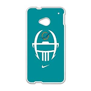 Miarei Dolphins HTC One M7 Cell Phone Case White Yfycp