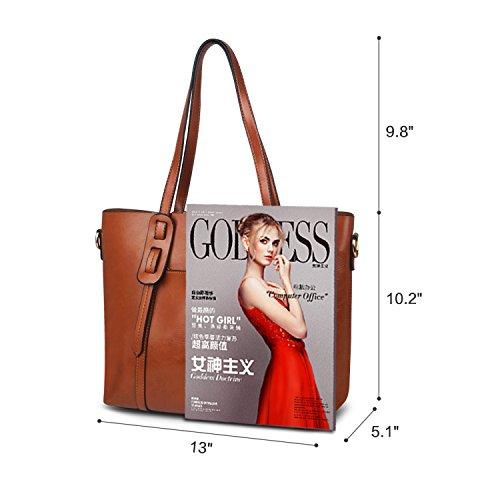 Tote Handbag Lady Women Hobo ZZSY Handle Top For brown D Handbag Satchel Shoulder Purse 1ZqIAZ