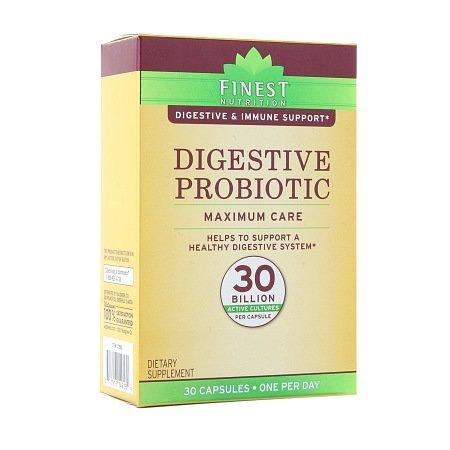 Cheap Finest Nutrition Digestive Probiotic Maximum Care Capsules 30 ea