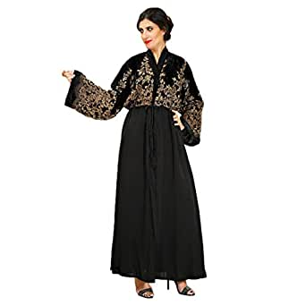 Larimar Black Casual Abaya For Women
