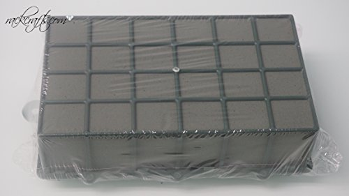 rackcrafts.com Large Wet Dry Flower Floral Foam Block Brick With Cage Holder For Silk or Natural Flowers ()