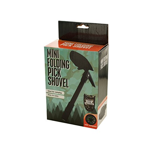 Bulk Buys Mini Folding Pick Shovel with Compass - Pack of 24 by bulk buys