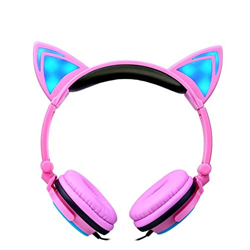 Kids Headphones Flashing Lights Pink product image