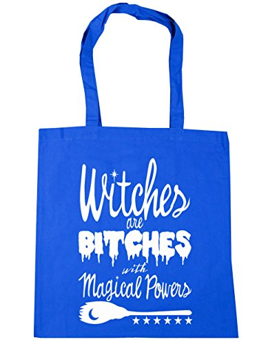 Bitches Blue 10 Tote Shopping HippoWarehouse x38cm Gym Powers Witches 42cm Beach litres Magical Bag Are With Cornflower BWqqEwga