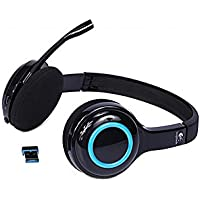Logitech Wireless Computer Headset H600 Noise Cancellation 981-000341 Black Blue