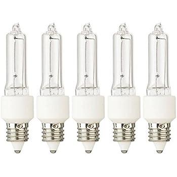 Tungsten Halogen Lamp Jd 75 Watt 120v E11 Base 5 Lamps