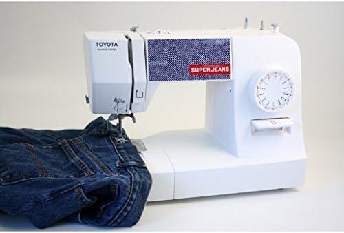 Toyota SUPERJ17W Jeans Freiarmn/ähmaschine mit 17 Programmen Jeansfunktion