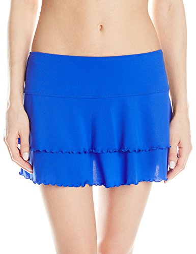 Body Glove Women's Smoothies Lambada Mesh Cover Up Skirt, Abyss, Large