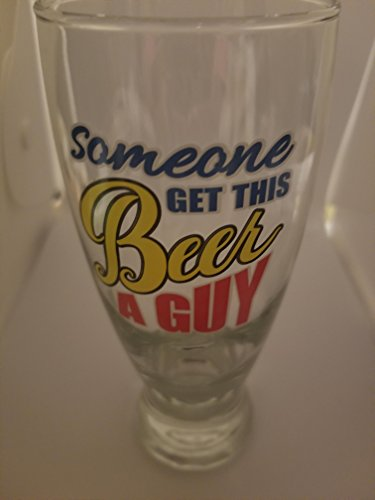 (Cristar Beer Glass with saying