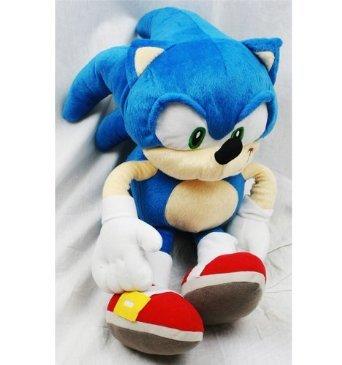 "Plush Backpack - Sonic The Hedgehog - Sonic Soft Doll 18"""