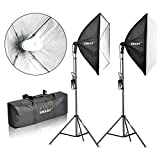 Emart 900W Softbox Lighting Kit Photography Continuous Photo Studio Light System for YouTube Video Shooting Soft Box 24″ x 24″