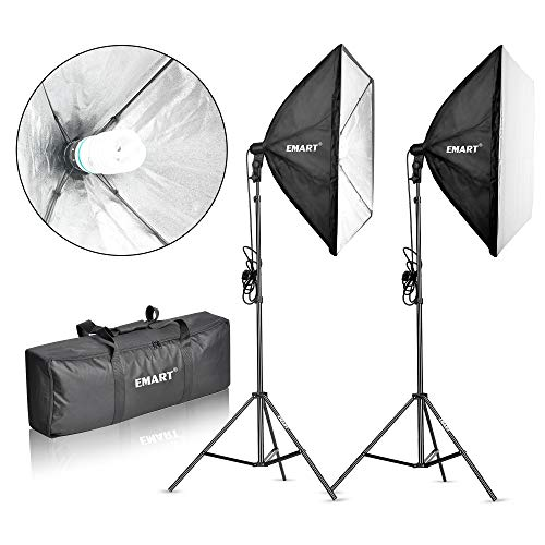 Emart 900W Softbox Lighting Kit Photography Continuous Photo Studio Light System for YouTube Video Shooting Soft Box 24