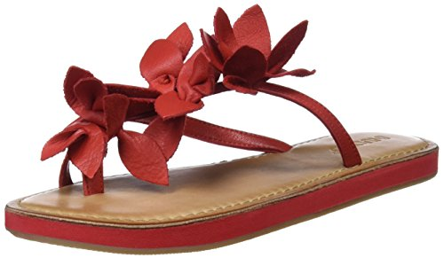 Rojo Mujer Para 225 9091 Inuovo red Chanclas 74TIpx