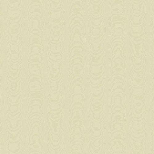 York Wallcoverings WM2563 Williamsburg Palace Moire Wallpaper, Cream, Beige