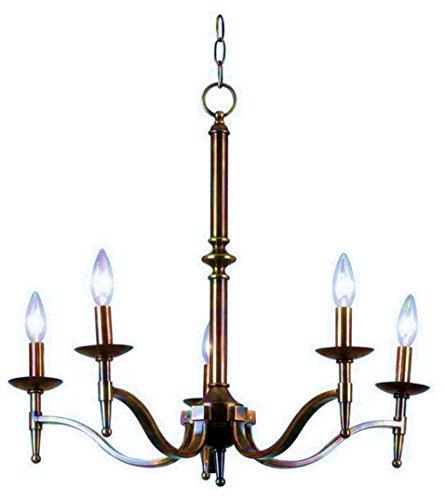 Kenroy Home 90065OB Hastings Chandelier Brass Lighting