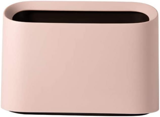 Lotsa Style Original Mini Countertop Trash Can, Craft Table Desktop Office Kitchen, Makeup Holder for Vanity Bathroom (Pink-Basic)