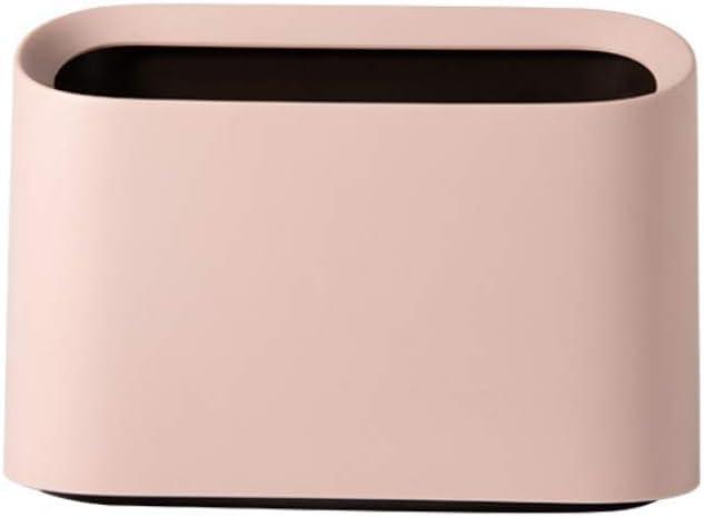Lotsa Style Original Mini Countertop Trash Can, Craft Table Desktop Office Kitchen, Makeup Holder for Vanity Bathroom (Pink-Basic)