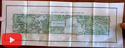 Central Park New York City 1860 detailed plan map Hayward old color (Maps Central)