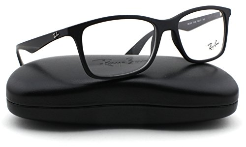 Ray-Ban RX7047 Rectangle Unisex Eyeglasses (Matte Black Frame 5196, 54)