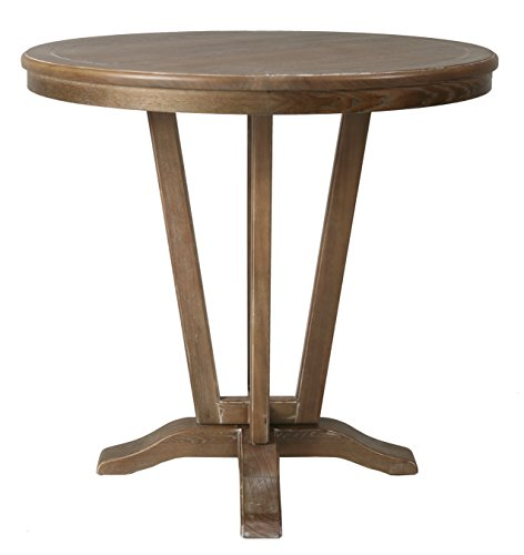 Impacterra Devon Coast Pub Table, Distressed Charcoal, Bar Height For Sale