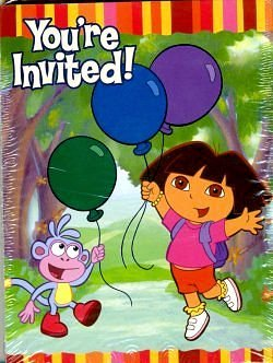 (Dora the Explorer 'Fiesta' Invitations and Thank You Notes w/ Env (8ct ea.))