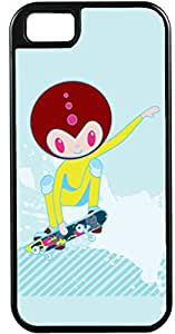 iPhone 5 5S Cases Customized Gifts Cover Alien skating on skateboard Case for iPhone 5 5S
