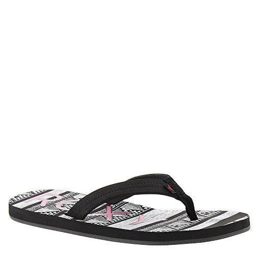 Roxy Womens Vista Sandal, Black/White, Sz. 5/34 ()