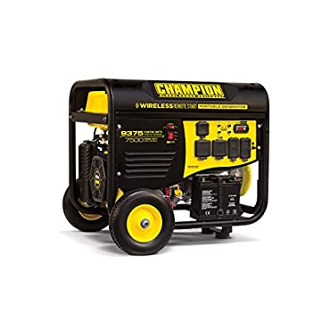 Champion 100161 7500 Watt Electric Start Generator w/ RV Plug & Wireless Re...