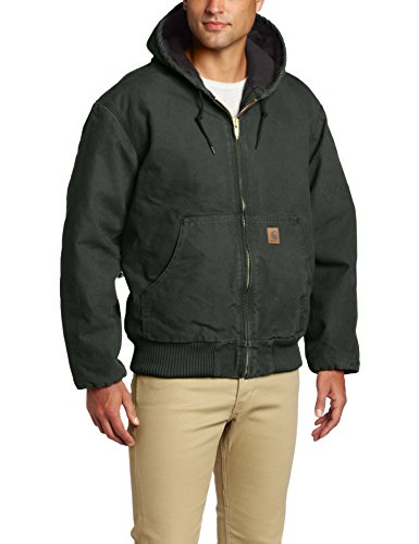 Work Jacket Lined - Carhartt Men's Sandstone Active Jacket,Moss,X-Large