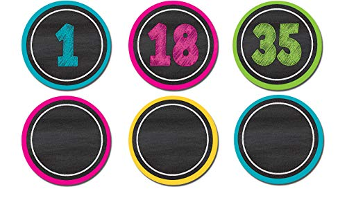 Teacher Created Resources 77280 Chalkboard Brights Numbers Magnetic Accents
