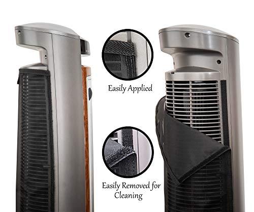 PollenTec with Lasko Model 2551 Wind Curve Fan Filter Keeps Fan Lasting Longer Effective Pollen Dust Pet Washable