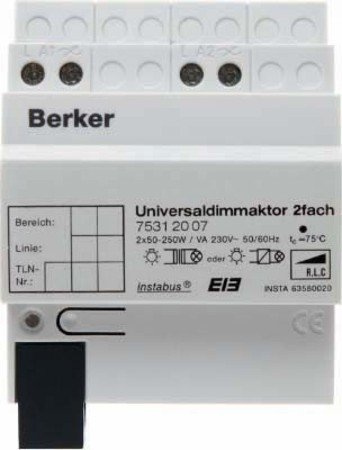 Berker – -Dimmaktor 75312007 Licht: Amazon.de: Elektronik
