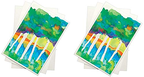 Sax Watercolor Beginner Paper, 90 lbs, 12 x 18 Inches, Natural White (2 X Pack of 100) by Sax