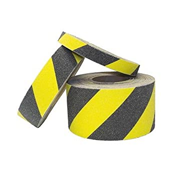 Anti Slip Tape ~ High Grip Construction 75mm x 1m Strip, Black Site Supplies Safety Non-Slip Safety Strip Grip Tape ~ Adhesive Backed Floor Steps