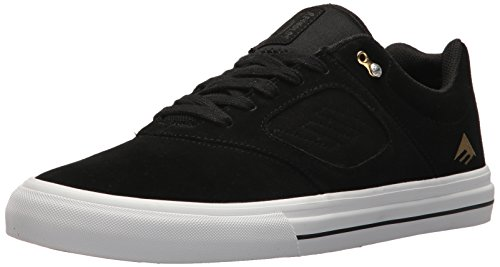 Emerica Men's Reynolds 3 G6 Vulc Skate Shoe, Black/White/Gold, 13 Medium US
