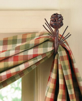 (Park Designs Pine Cone Curtain Hook By)