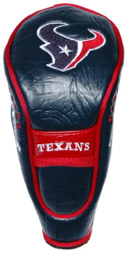 Team Golf NFL Houston Texans Hybrid Golf Club Headcover, Velcro Closure, Velour lined for Extra Club Protection