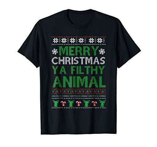 Filthy Animal Ya Merry Christmas Ugly Sweater T -