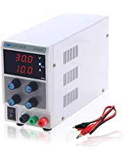 DC Power Supply Variable 0-30V/0-10A Adjustable Power Supply CC CV Mode with 3 Digit LED Display for Laboratory, Repair, Electrolyzation, Electroplate, Home DIY