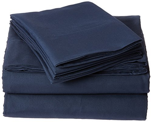 Aurora Bedding #1 Best Selling 1800 Series 6 Piece Bed Sheet Set with Deep Pocket, King, Navy by Aurora Bedding (Aurora King Bed)