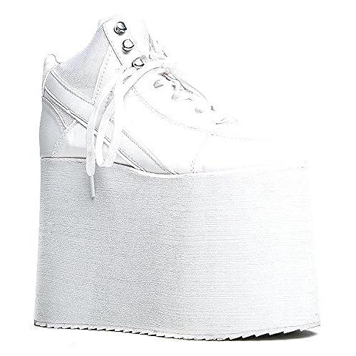 Maxstar Womens C2 7 Holes Zipper Hidden Heel Canvas High Top Sneakers